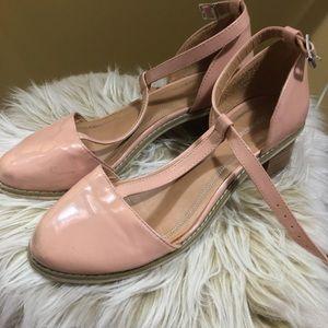 UO T-Strap Blush Pink Heel